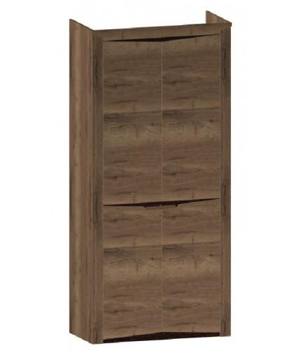 СГ «Гарда» Дуб галифакс Табак Шкаф 2-х дверный