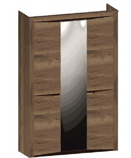 СГ «Гарда» Дуб галифакс Табак Шкаф 3-х дверный