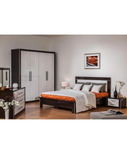 Спальня Мартель 2, венге/белый/глянец