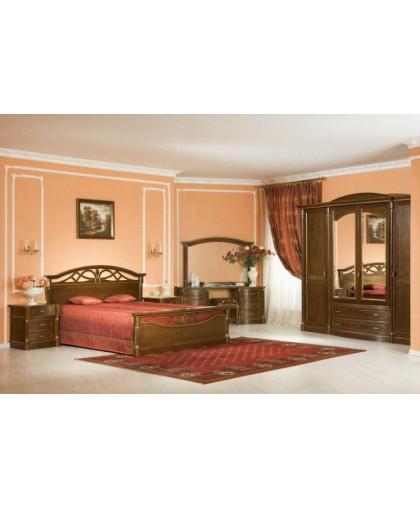Спальня Элеганца, орех с золотой патиной